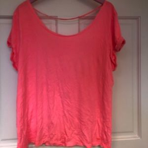 Victoria's Secret PINK pink scoop t-shirt